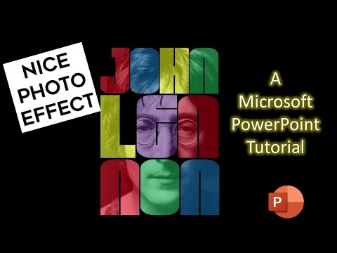 How to Make Adobe Photoshop Like Typographic Portrait Effect in PowerPoint 2016
