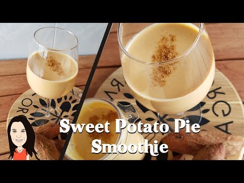 Sweet Potato Pie Breakfast Smoothie - Clean Eating Vegan Weight Loss Shake!