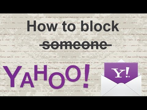 How to block someone on yahoo mail 2015