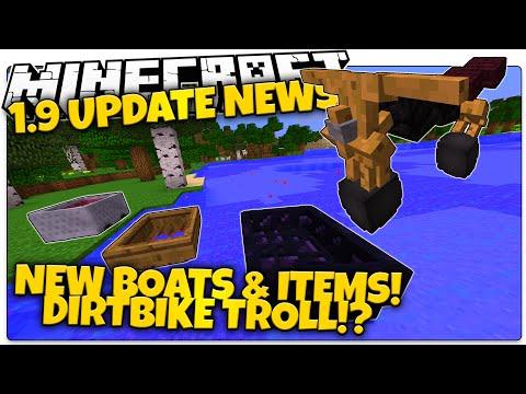 Minecraft 1.9 News   DIRT BIKES!? New Boats & Items, April Fools Update (Minecraft 1.9 Snapshot)
