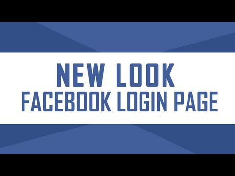 New look Facebook Login page design with background photos