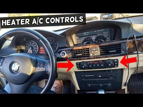 HOW TO REMOVE AND REPLACE HEATER AC CLIMATE CONTROL ON BMW E90 E92 E91 E93