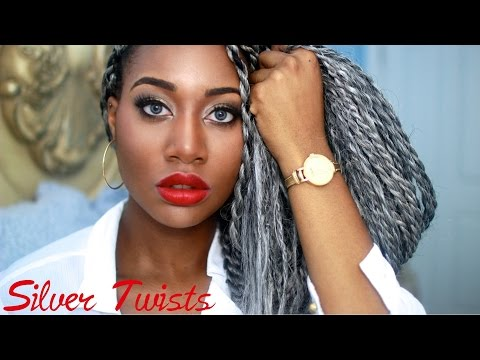 SILVER/GRAY SENEGALESE TWISTS