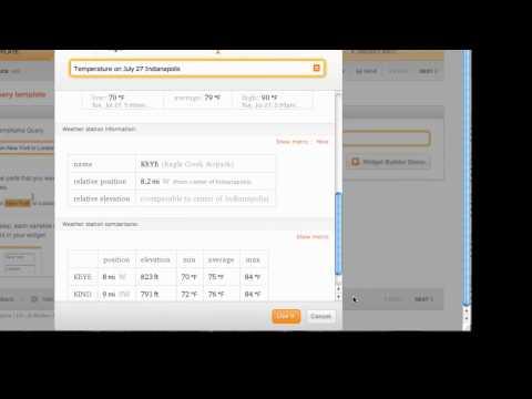 How to create a Wolfram|Alpha widget