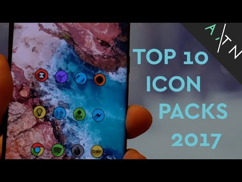 TOP 10 Icon Packs 2017 (Android)