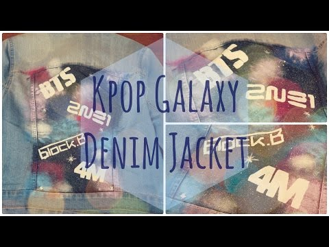 Kpop Galaxy Denim Jacket - NerDIY