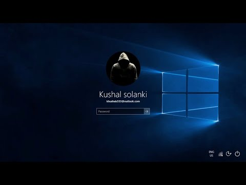 How To Put Lock Screen Picture Account Photo On - (Windows 10)
