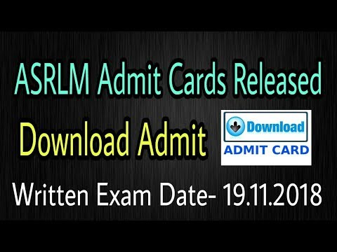 ASRLM Admit Card 2018 : State/ District Project Manager, District Functional Experts & More