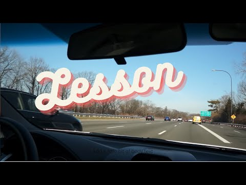 Taking a driving lesson on the highway