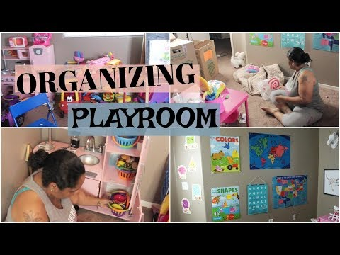 ORGANIZING TODDLER PLAYROOM   [ MOTIVATIONAL CLEANING ]