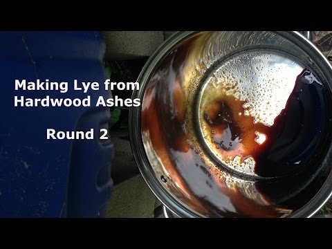 An Experiment in Lye Making from Hardwood Ashes