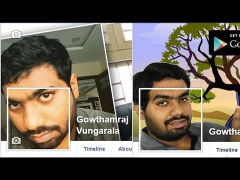 Creating Facebook cover photo combined with profile picture 2015