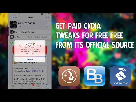 Get Paid Cydia Tweaks for FREE from the Official Source/Repo on iOS 8