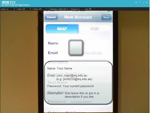 Setting up iPhone Email for Education Queensland Schools