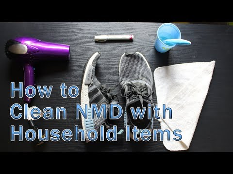 HOW TO CLEAN NMD WITH HOUSEHOLD ITEMS!! FAST AND EASY