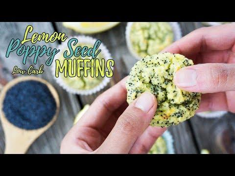 Lemon Poppy Seed Low Carb Muffins   Keto Recipes