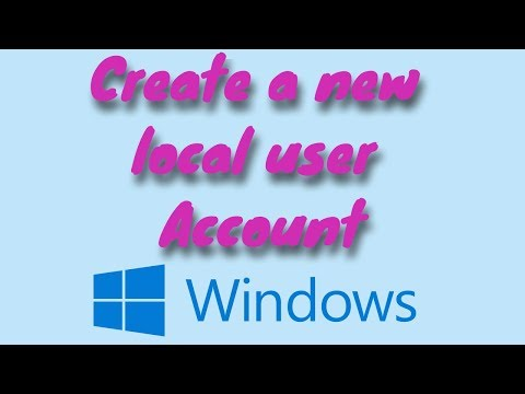 HOW TO CREATE A NEW USER ACCOUNT IN WINDOWS 10 ON YOUR NEW COMPUTER