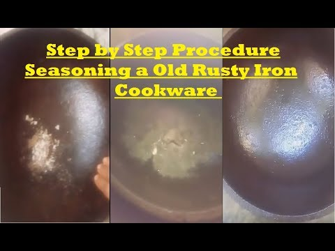 Cleaning & Seasoning a old rusty Iron cookware with some maintenance tips/V17/Tamil commentary