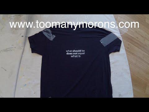 Creating vinyl cut stencil / Screen printing a Tshirt