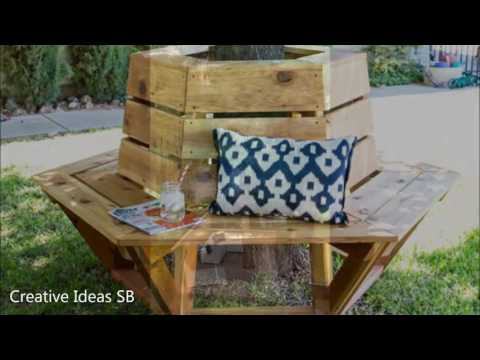 40 Bench Around the Tree Ideas 2016 - Creative Ideas for Seats -newest home decor
