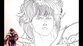 #x202b;رسم Kenshiro -انمي سيف النار (北斗の拳) خطوة بخطوة بالرصاص والتخطيط الجزء الاول Part1#x202c;lrm;