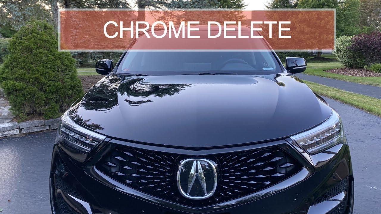 2019 Acura RDX chrome delete using vinyl wrap