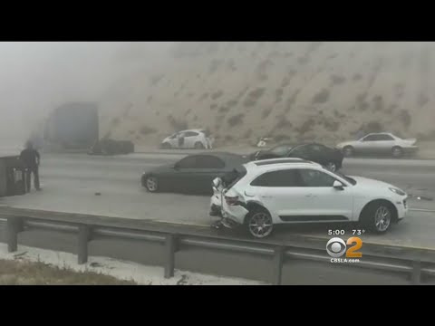 At Least 17 Injured In Multi-Vehicle Pileup On 15 Freeway In Cajon Pass