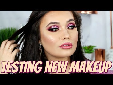 New Makeup First Impressions + Glitter Makeup Tutorial | Lime Crime Venus XL Palette