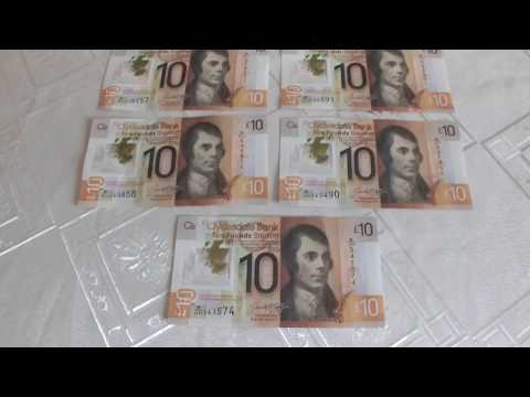 New Plastic Scottish £10 Ten Pounds Sterling Note Clydesdale Bank Robert Burns