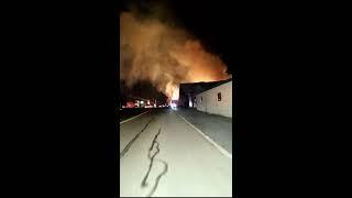 E1-12 Responding to massive 3-Alarm lumber yard fire