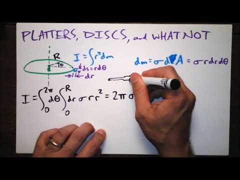 How to Calculate I for a Disc   Moments of Inertia In Your Face   Doc Physics