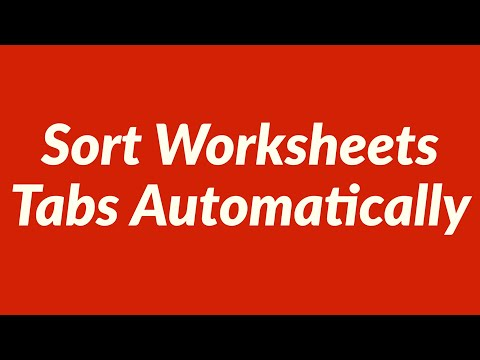 Sort Worksheets Tabs Automatically with VBA