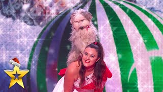 The CUTEST Christmas combo: Dancing dogs and Sign Along With Us! | BGT: Xmas