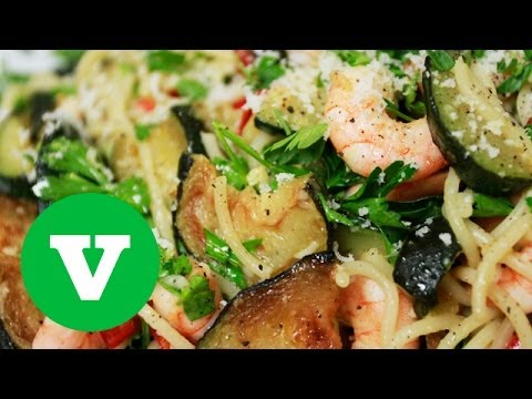 Courgette, Lemon And Prawn Spaghetti: Kate's Kitchen