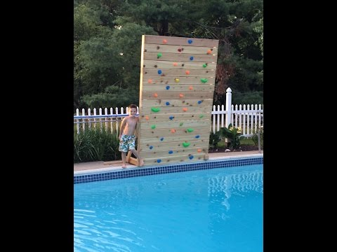 Build Your Own Climbing Rock Wall For Your Pool