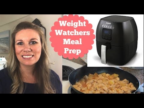 Weight Watchers Freestyle Meal Prep | Pineapple Chicken & Rice Wraps, and Air Fryer Chicken with Bow