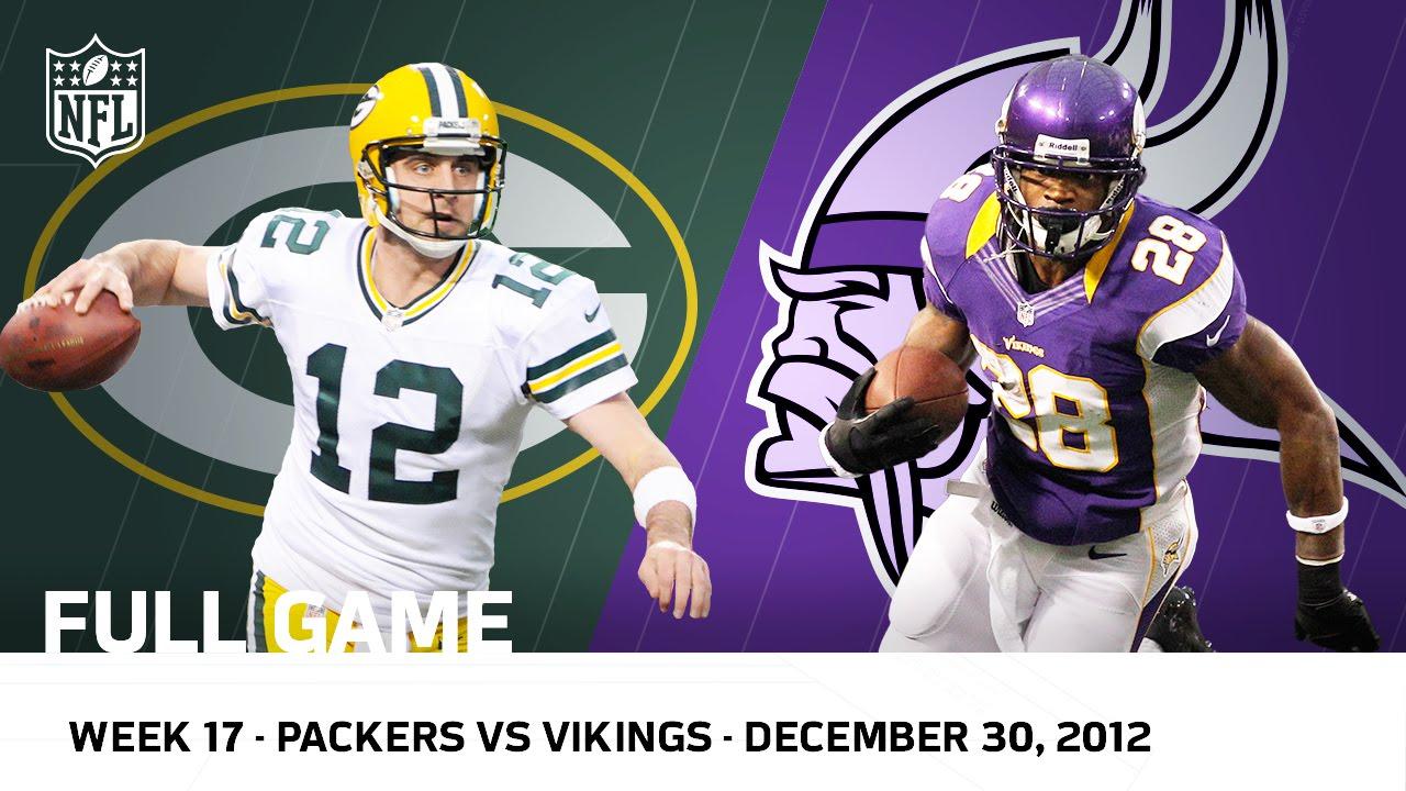 """""""Adrian Peterson Goes Over 2000"""" Packers vs. Vikings (Week 17, 2012)   NFL Full Game"""