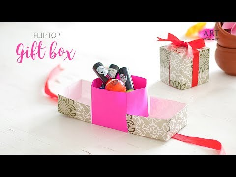 How to make  Flip-Top Gift Box   Easy DIY arts and crafts