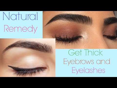 How to Get THICK EYEBROWS and LONG EYELASHES Naturally || home remedies for dark and thick eye brows