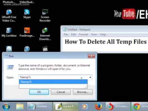 How To Delete All Temp Files in Windows 7 Automatically