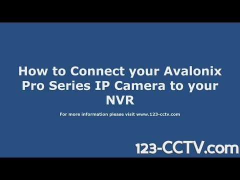 How to Connect Avalonix IP Cameras to PoE NVR with ONVIF