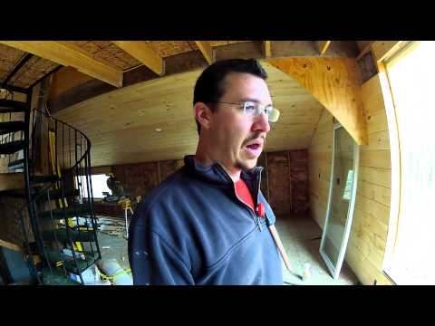 Installing Tongue and Groove Pine on the walls Part 3