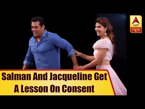 Salman And Jacqueline Get A Lesson On Consent After Boy Forced To Hug Actress | ABP News