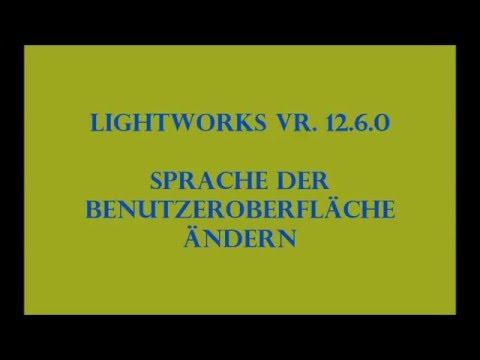 Sprache der Benutzeroberfläsche ändern in Lightworks