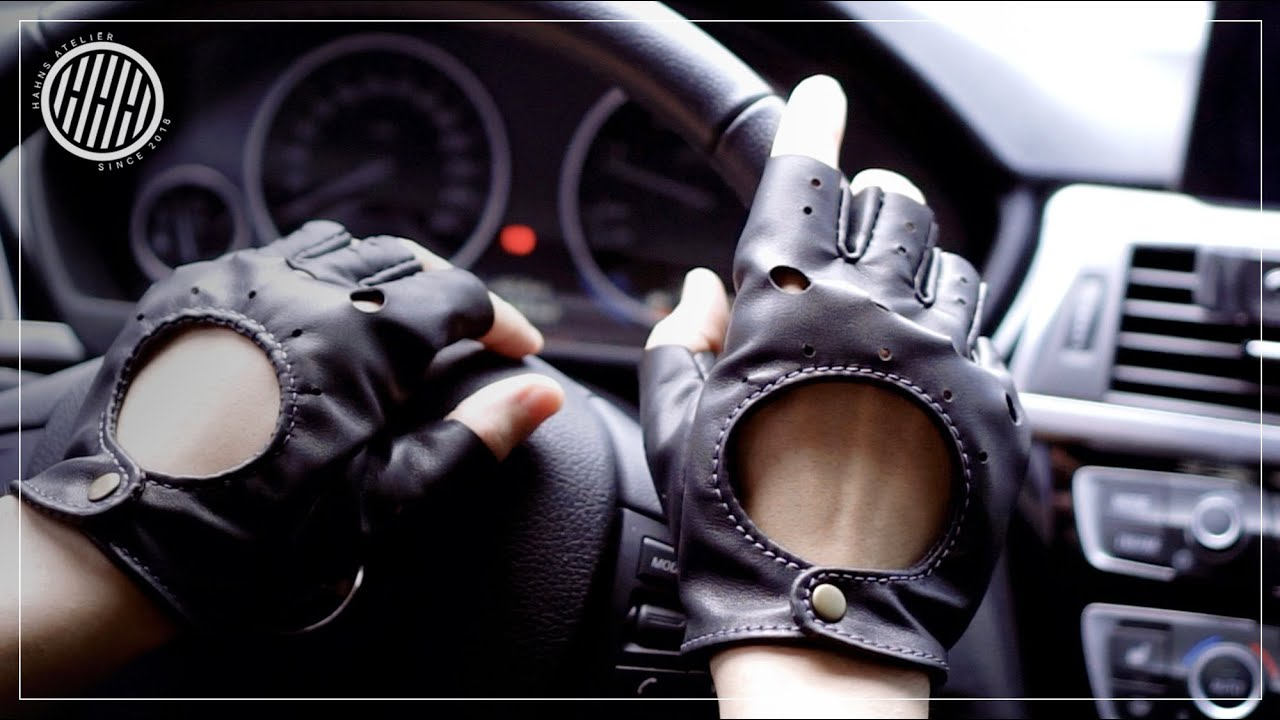 Making driving gloves by hand | Leathercraft DIY