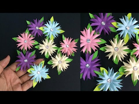 How to Make Small Flower with Paper | Making Paper Flowers Step by Step | DIY-Paper Crafts