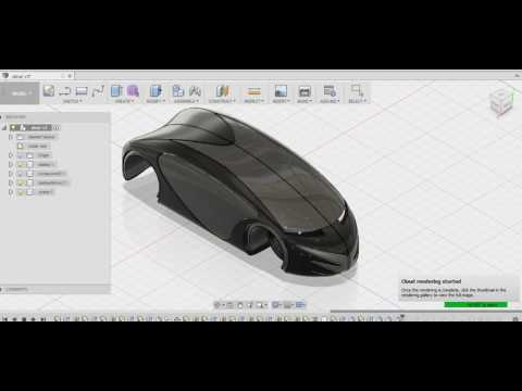 How to make a 3D sports car in fusion