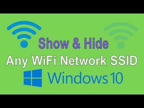 How to Show and Hide WiFi Networks in Windows 10 PC