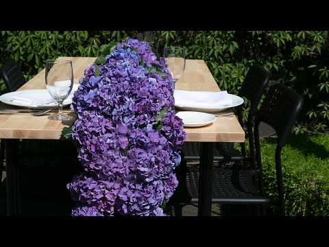 Hydrangea Table Runner