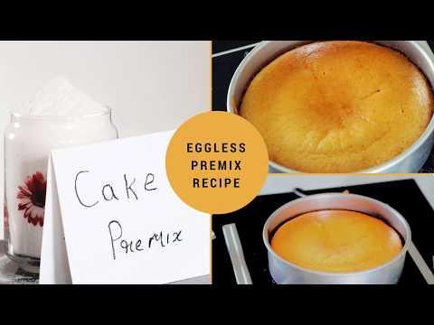 Cake Premix Recipe - Vanilla Cake Premix - Eggless Vanilla Sponge Cake Premix